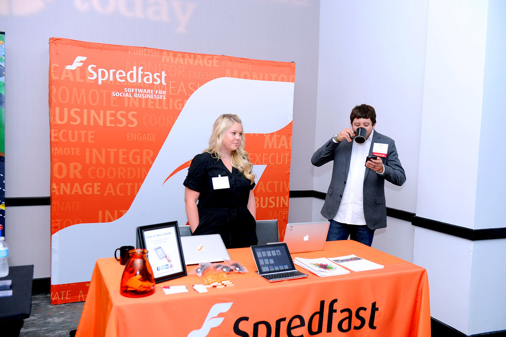 Photo of Creativecommons-Spredfast booth klout