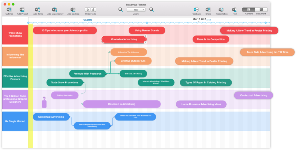 Screenshot of Roadmap Planner - Product roadmap tools