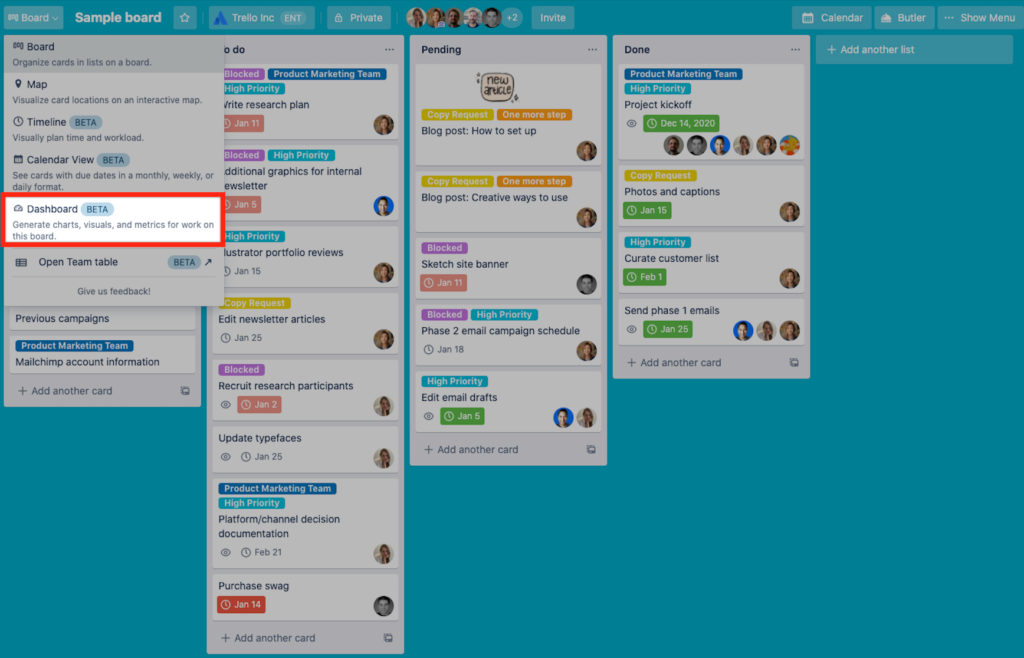 Trello Startup Product Managers To Build Measure Learn Screenshot