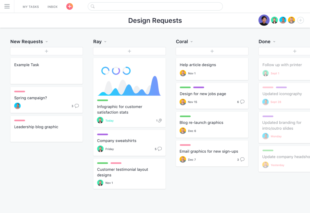 Screenshot Of Asana for free product management software