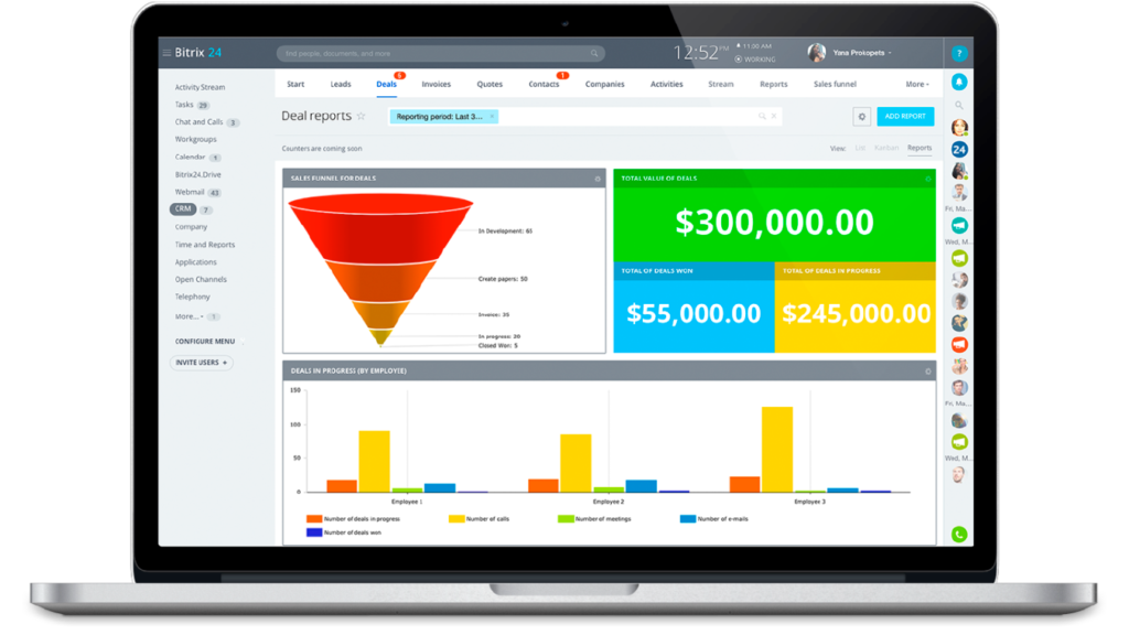 Screenshot Of Bitrix24 for free product management software
