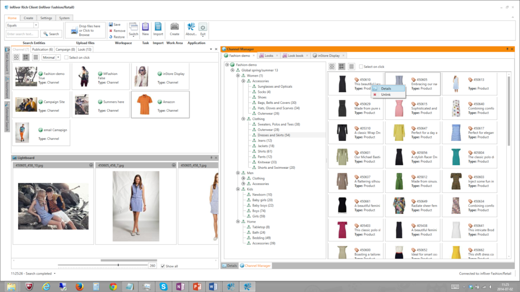 inRiver Product Experience Management Software Screenshot