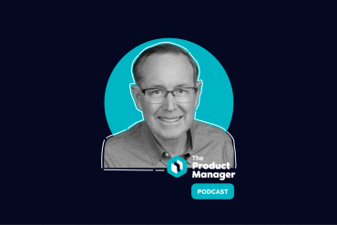 photo of John Carter on a dark background with a teal bubble and the product manager podcast logo