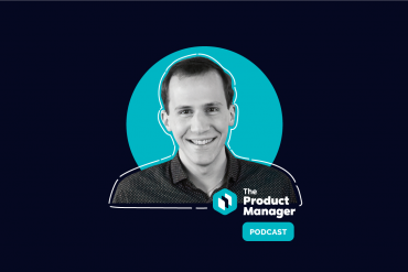 photo of Michael Luchen on a dark background with a teal circle and the product manager podcast logo