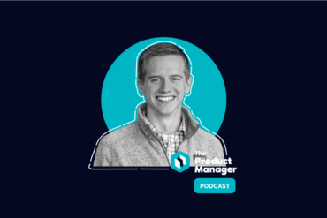 photo of Brandon Blackman on a dark background with a teal bubble and the product manager podcast logo