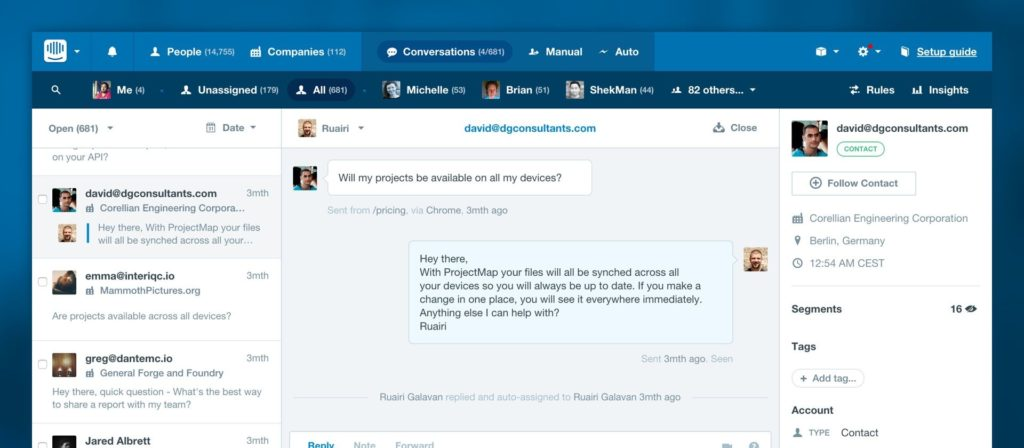 Intercom Startup Product Managers To Build Measure Learn Screenshot