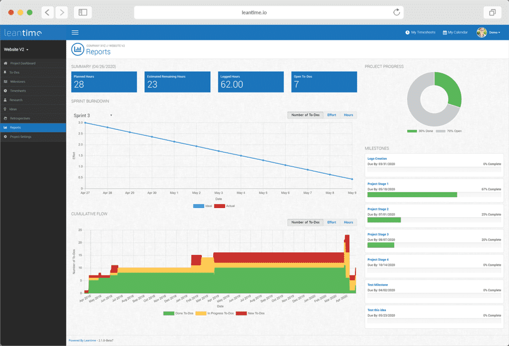 Leantime.io Startup Product Managers To Build Measure Learn Screenshot