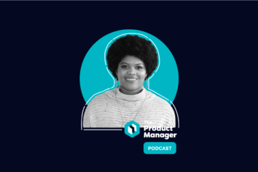 photo of Chanel Maddox on a dark blue background with a teal circle and the Product Manager podcast logo